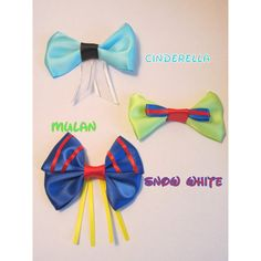 Princess Mini Bows Disney Inspired Set One ❤ liked on Polyvore