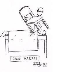 Lol! Chair massage! Haha