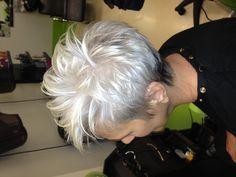 grey short hair styles - Google Search