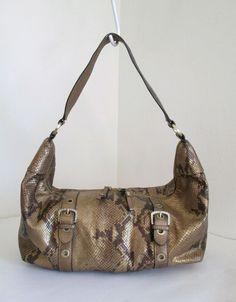 ADRIENNE VITTADINI Bronze Snake Skin Embossed Genuine Leather Hobo Shoulder Bag | Clothing, Shoes & Accessories, Women's Handbags & Bags, Handbags & Purses | eBay!