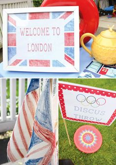 olympic-themed-birthday-party-decorations