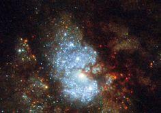 """Hubble ha scovato la """"galassia nascosta"""" (Hubble/Nasa&Esa) © Ansa"""