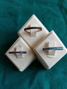 Diamond Sizes, Stone Art, Small Gifts, Jewelery, Sapphire, Cufflinks, My Etsy Shop, Diamonds, Sterling Silver