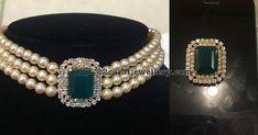 3 Rows Pearl Choker with Center Locket Bead Jewellery, Pearl Jewelry, Wedding Jewelry, Beaded Jewelry, Jewelery, Diamond Jewellery, India Jewelry, Diamond Necklace Set, Diamond Pendant
