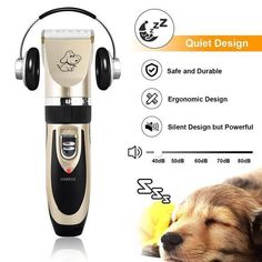Showlovein Dog Clippers Pet Grooming Clipper Kits Dog Nail Clippers Low Noise Rechargeable Cordless Quiet Cat Dog Groomer Tool Hair Trimmer Razor Blades with Combs, Scissor Pet Dogs, Dog Cat, Dog Clippers, Nail Clippers, Grooming Kit, After Shave, Brush Cleaner, Dog Treats, Hair Lengths
