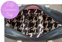 DIY Camera Bag... from a Purse! {cute!}  #diy #photo