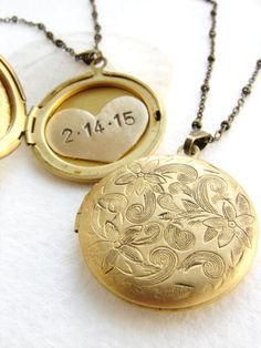 Vintage Bronze Tone Locket Picture Pendant Necklace Fire Nations Symbol Included Free Brass Chain Gifts Personalized