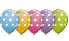 Polka Dot Pastel Party Balloons (Pack of 25)