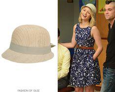 Lauren by Ralph Lauren Woven Linen Cloche   Worn with: Zara dress,Rag & Bone wedges    Quin on Glee