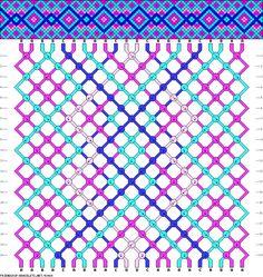 Muster # 93469, Streicher: 22 Zeilen: 20 Farben: 4