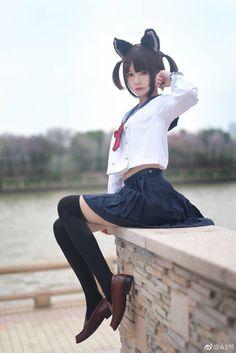 Cosplay Japanese School Girl ❁[Ane of The Wild Hunt]❁ School Girl Japan, School Girl Outfit, School Uniform Girls, Japan Girl, Japanese School Uniform, Asian Cute, Cute Asian Girls, Beautiful Asian Girls, Cute Girls