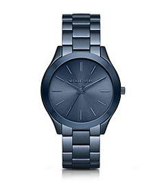 Slim Runway Blue Watch by Michael Kors