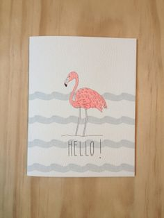 Flamingo Card. A new little stork is on the way.  A new flock member will be arriving soon. Lets Flamingle