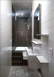 "SolutionAppart: Transformer une petite salle de bain ""couloir"""