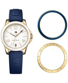 Tommy Hilfiger Women s Casual Sport Navy Silicone Strap Watch and  Interchangeable Bezels Set 34mm 1781679 Jewelry   Watches - Watches - Macy s 1d7b5eb4fcfb