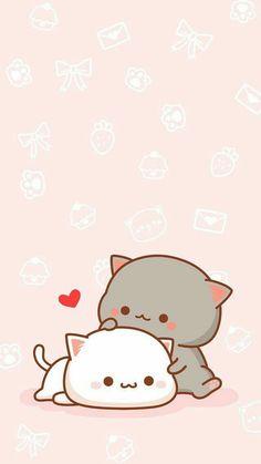 Nice screen image - Part No Name 11 - Cute & Kawaii Animal Drawings Art Kawaii, Cute Kawaii Drawings, Cute Animal Drawings, Kawaii Cute, Drawing Animals, Kawaii Disney, Cute Cat Wallpaper, Bear Wallpaper, Kawaii Wallpaper