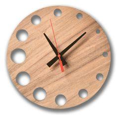2bcc554756e Cog Wall Clock Relógios De Madeira
