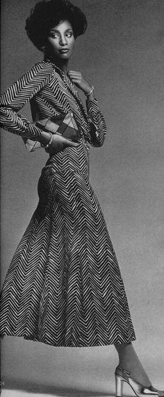 Beverly Johnson  Vogue 1974 Photo by Francesco Scavullo