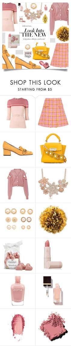 """vintage town"" by ztugceuslu ❤ liked on Polyvore featuring Miu Miu, Emilio De La Morena, Gucci, ZAC Zac Posen, Adeam, Disney, Lipstick Queen, SkinCare, Bobbi Brown Cosmetics and vintage"