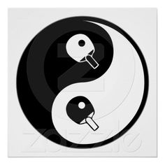 Yin Yang Table Tennis Print