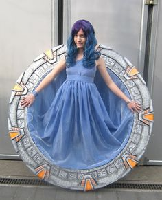 Chevron Seven Is Locked In This Stargate Cosplay - Nyima-chan made this costume because she wanted a Stargate of her very own.