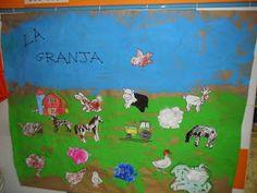 Materiales para Educación Infantil: MURAL ANIMALES DE LA GRANJA