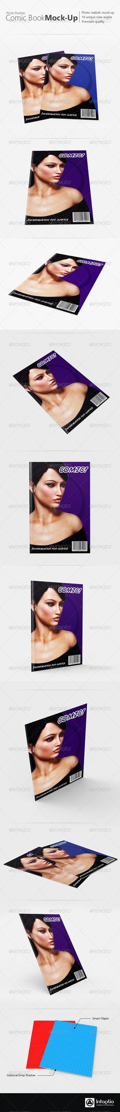 Photorealistic Comic Book Mockup - Miscellaneous Print  http://graphicriver.net/item/photorealistic-comic-book-mockup/3139896?ref=mudi  #mockup