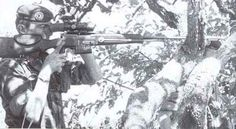 French Foreign Legion sniper during Operation Zaire 1978