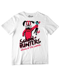 Clássico dos games em uma estampa exclusiva. Confira: http://loopdut.com/loja/camisetas/camiseta-school-hunters/
