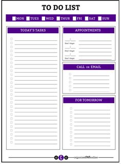 FREE download -- To Do List. We create things out of necessity. Printable and free. Enjoy!