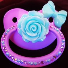 Blue Rose Adult Size Pacifier