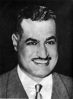 Gamal Abdel Nasser, president of Egypt.