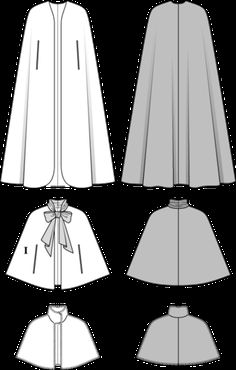 Schnittmuster: Cape mit Schluppe, Pelzcape (Burda Style) Sewing Pattern: Cape with Throat, Fur Cape Doll Clothes Barbie, Sewing Clothes, Diy Clothes, Coat Patterns, Clothing Patterns, Dress Patterns, Fashion Sewing, Diy Fashion, Retro Fashion