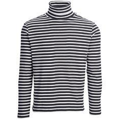 Langarmshirt mit Rollkragen und Streifen ab 29,95€ Hier kaufen: http://www.stylefru.it/s188383 #rolli #longsleeve
