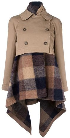 Semicouture checked coat