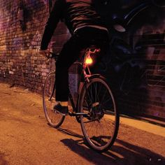 This illuminated heart shaped LED bike safety light is the perfect way to be more noticeable & more visible.