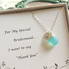 Personalized  Necklace, Bridesmaid Gift,
