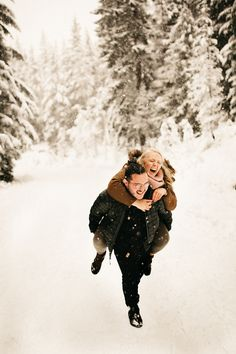 Snow Engagement Photos, Mount Hood Couples Session, Snowy Mountain Engagement Shoot