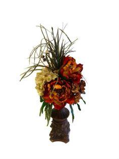 Peony Hydrangea Silk Floral Arrangement by perpetualposy on Etsy, $49.95