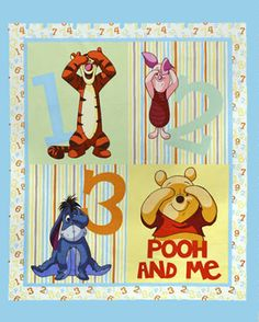Winnie the Pooh Cotton Fabric and Panels