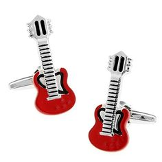 Rxbc2011 Men's Guitar Style French Shirts Cufflinks 1 Pair Set by Rxbc2011 -- Awesome products selected by Anna Churchill