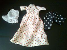 Polkadot dress, polkadot skirt and polkadot shorts for Barbie / Sindy etc dolls