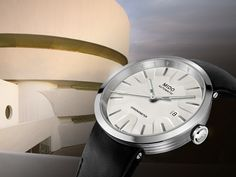 "Mido introduces the ""Inspired By Architecture"" Limited Edition with a design meant to reference the #architecture of New York City's Solomon R. #Guggenheim Museum."