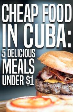 ViaHero | Cheap Food in Cuba: 5 Delicious Meals Under $1
