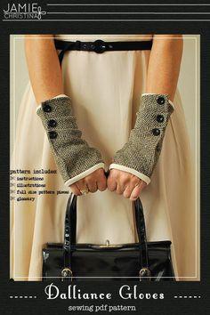 Dalliance Gloves e-pattern - Jamie Christina - Boutique style sewing patterns