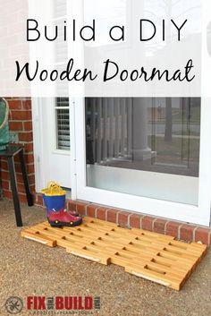 DIY Wooden Doormat Plans