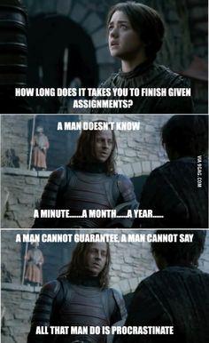Every semester in University...