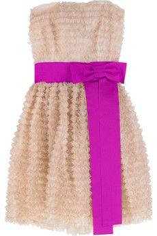 D&G Ruffle-embellished silk bustier dress | NET-A-PORTER