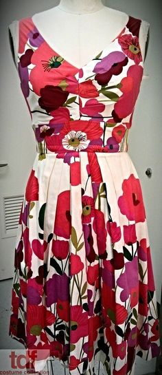 This dress though was in a production of Hairspray at Papermill Playhouse. It's so cheery and colorful. #Hairspray #TDFCC #KeepingUpWithTheCostumes #1960s