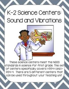 These science centers meet the NGSS standards in science for first grade. This set of centers specifically covers 1-PS4-1 and 1-PS4-4. There are 5 different centers that can be used throughout your teaching unit.Use some or all of these science centers and activities during your science unit.